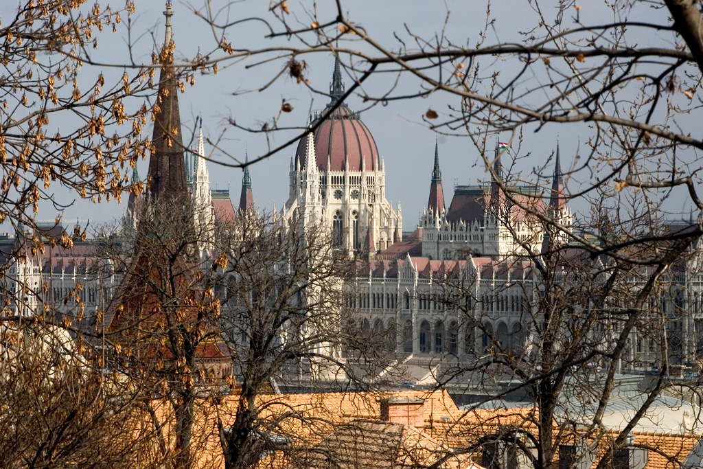 Parliament from Castle Hill (Várhegy)