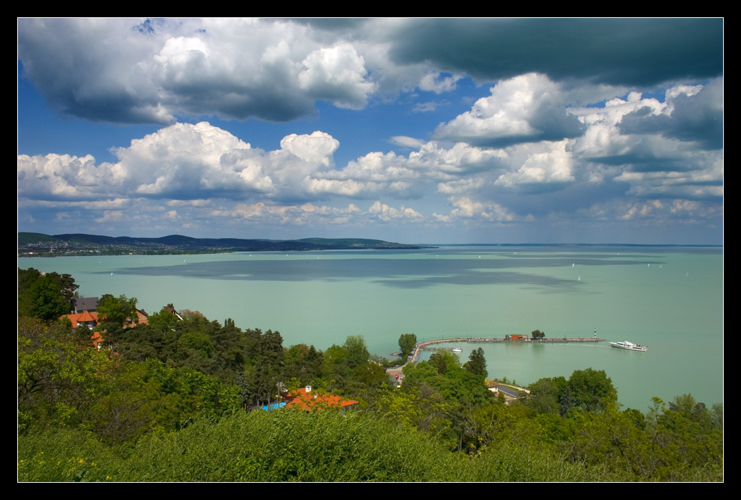 Lake Balaton from Thiany