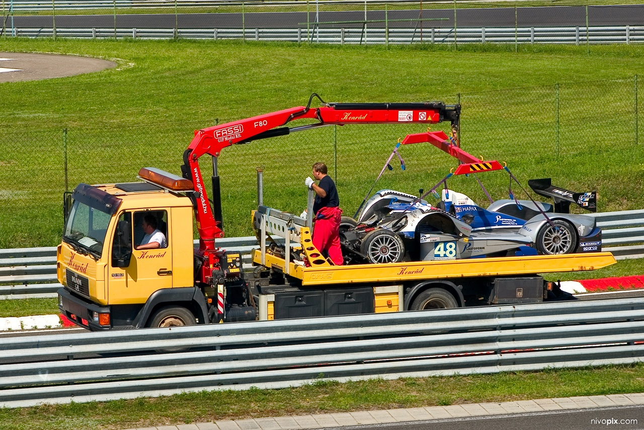 HOPE Polevision Racing's LMP2 car - crashed