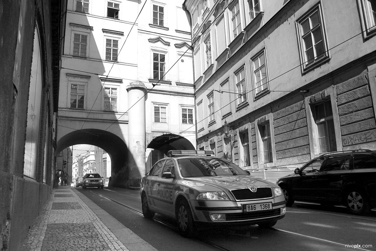 Skoda Octavia police car in Prague