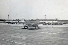 Malev Il-18, Il-14 and Interflug Il-18 at Budapest, Ferihegy airport