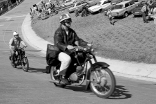 Retro motorcycle race