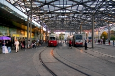 Trams at Praterstern