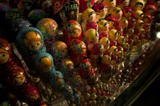 Matryoshka dolls in a Prague souvenir shop
