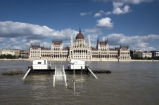 Hungarian Parliament - flooded Danube