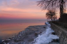 Balaton sunset in winter (Tihany)