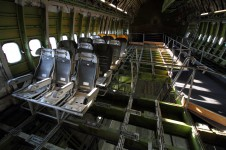 Boeing 747 dismantled cabin, seats