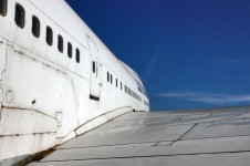 Boeing 747 wing view