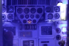 Russian space shuttle cockpit