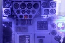 Buran space shuttle cockpit